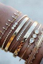 Bomshe 7-piece Gold Bracelet