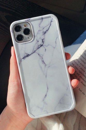 Bomshe Tie-dye White Phone Case(2 Colors)