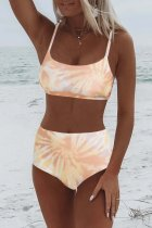 Bomshe Tie-dye Skin Color Two-piece Swimsuit