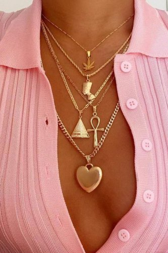 Bomshe Heart Gold Necklace