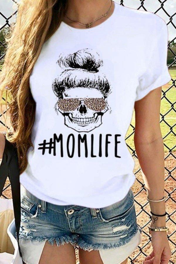 Bomshe Print White T-shirt