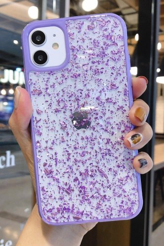 Bomshe See-through Purple Phone Case