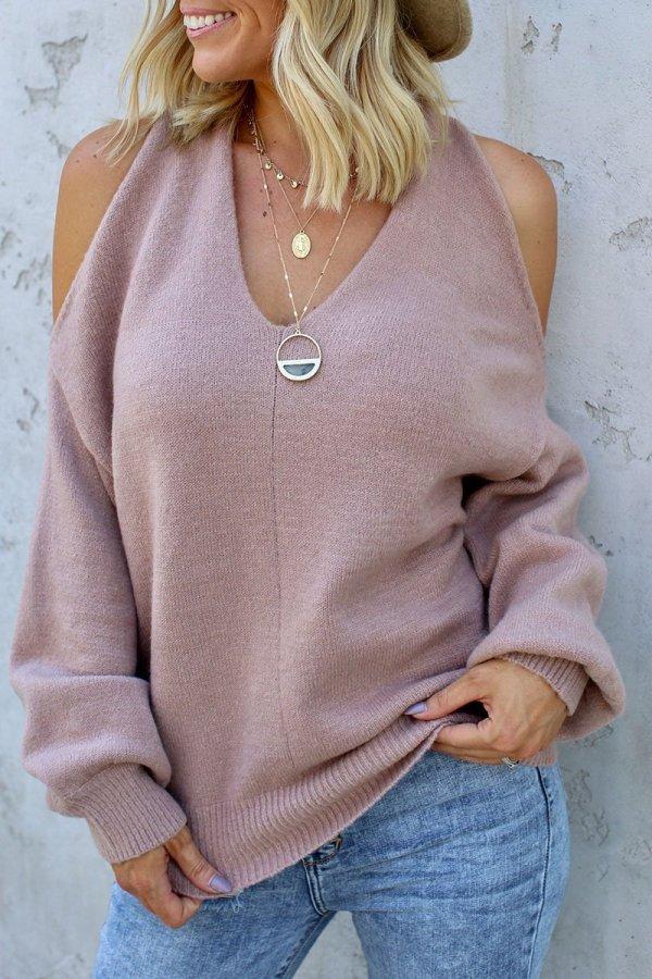 Bomshe Cross-over Design Sweater