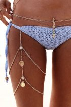 Bomshe Tassel Design Gold Body Chain