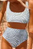 Bomshe Print Green Two-piece Swimsuit