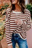 Bomshe Striped Red Sweater