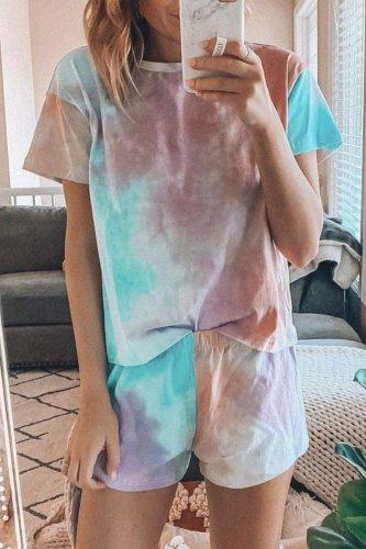Bomshe Tie-dye Multicolor Loungewear