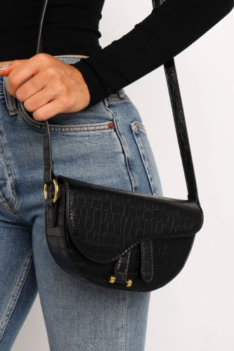 Bomshe Basic Black Crossbody Bag