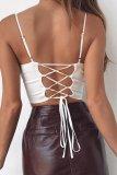 Bomshe Fold Design White Camisole(2 Colors)