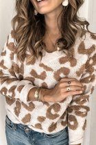 Bomshe Leopard Brown Sweater