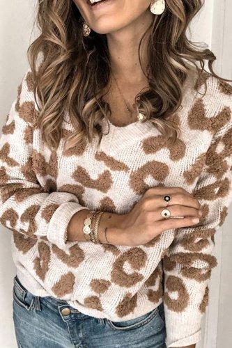 Bomshe Leopard Brown Sweater