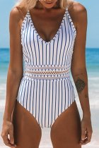 Bomshe Presale Striped One-piece Swimsuit