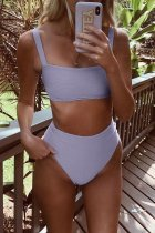 Bomshe Basic Light Purple Bikini Set