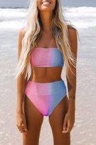 Bomshe Gradual Change Blue Two-piece Swimsuit