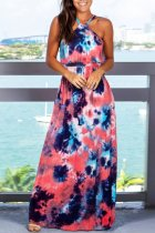 Bomshe Tie-dye Multicolor Maxi Dress