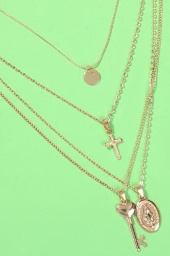 Bomshe Multilayer Gold Necklace