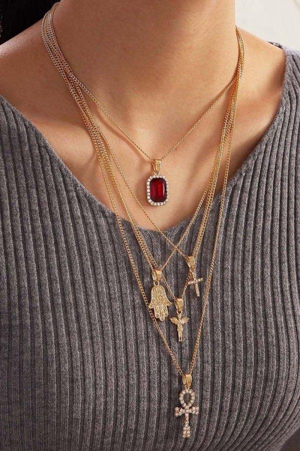 Bomshe Cross Gold Necklace