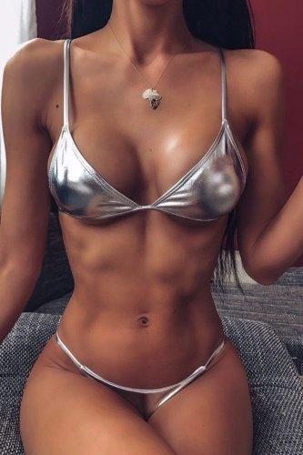 Bomshe Basic Silver Bikini Set(2 Colors)