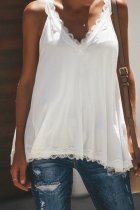 Bomshe Lace Patchwork White Camisole(2 Colors)