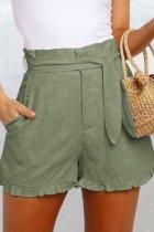 Bomshe Fold Design Green Shorts(2 Colors)