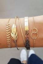 Bomshe 5-piece Gold Bracelet