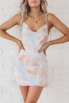 Bomshe Tie-dye White Mini Dress