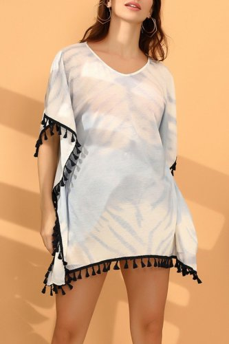 Bomshe Tassel Design Black Cover-up