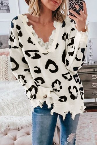 Bomshe Asymmetrical White Sweater