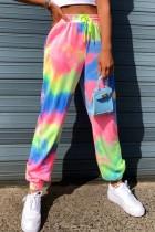 Bomshe Tie-dye Multicolor Pants