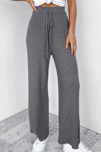 Bomshe Lace-up Grey Pants