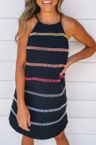 Bomshe Striped Black Cami Style Mini Dress(2 Colors)