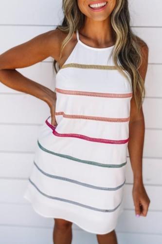 Bomshe Striped Black Cami Style Mini Dress(2 Colors)