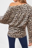 Bomshe Leopard Print Long Sleeves T-shirt