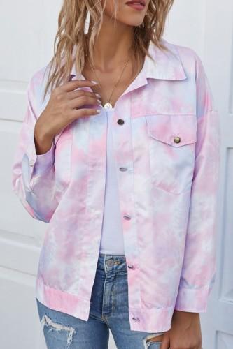 Bomshe Tie-dye Multicolor Jacket