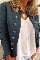 Bomshe Buttons Design Deep Blue Coat(2 colors)