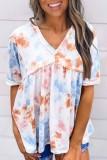 Bomshe Babydoll Tie-dye Multicolor T-shirt