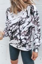 Bomshe Unique Tie-dye White Sweatshirt