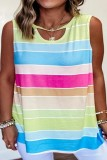 Bomshe Striped Hollow-out Multicolor Camisole