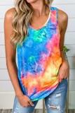 Bomshe Tie-dye Cross-over Design Multicolor Camisole
