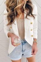 Bomshe Buttons Design White Blazer