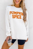 Bomshe Pumpkin Letter Print White Sweatshirt(2 Colors)