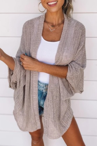Bomshe Loose Fit Light Camel Cardigan