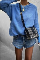 Bomshe Comfy Loose Blue Sweater(6 Colors)