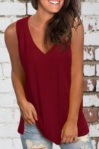 Uniqdress Basic Wine Red Tank Top