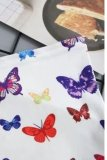 Uniqdress Butterfly Print White Tank Top