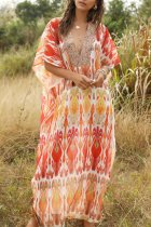 Uniqdress Boho Print Multicolor Cover-Up