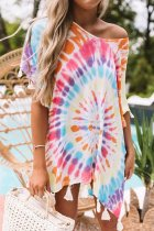 Uniqdress Tie-dye Multicolor Cover-up