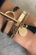 Uniqdress Tassel Design Gold Bracelet