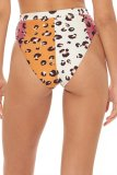 Uniqdress Patchwork Leopard Print Bikini Set