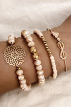 Uniqdress 4-piece Gold Bracelet